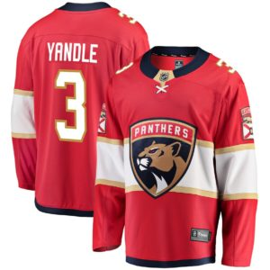 Men's Florida Panthers Keith Yandle  Branded Red Breakaway Jersey