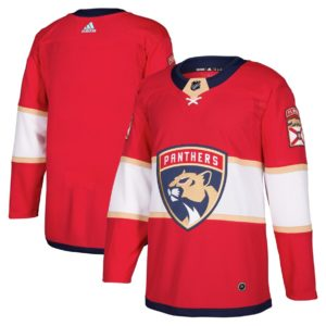 Men's Florida Panthers  Red Home  Blank Jersey
