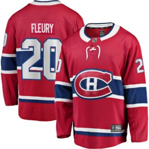 Men's Montreal Canadiens Cale Fleury  Branded Red Home Breakaway Player Jersey