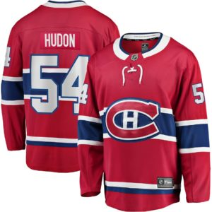 Men's Montreal Canadiens Charles Hudon  Branded Red Home Breakaway Jersey