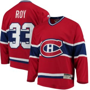 Men's Montreal Canadiens Patrick Roy CCM Red Heroes of Hockey  Throwback Jersey