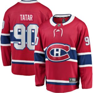 Men's Montreal Canadiens Tomas Tatar  Branded Red Home Breakaway Player Jersey
