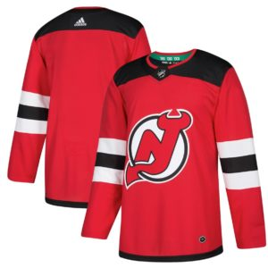 Men's New Jersey Devils  Red Home  Blank Jersey