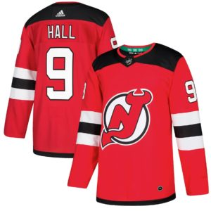 Men's New Jersey Devils Taylor Hall  Red  Player Jersey