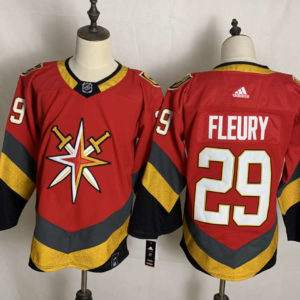 Men's Vegas Golden Knights Marc-Andre Fleury adidas Red 202021 Reverse Retro Authentic Player Jersey